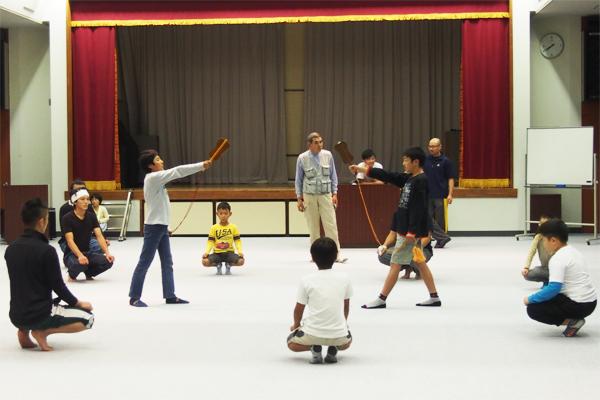 相撲練りの練習