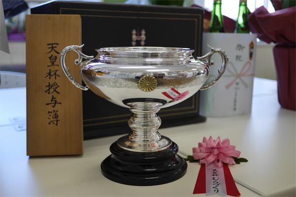農林水産祭・豊かなむらづくり表彰にて、天皇杯を拝受いたしました。